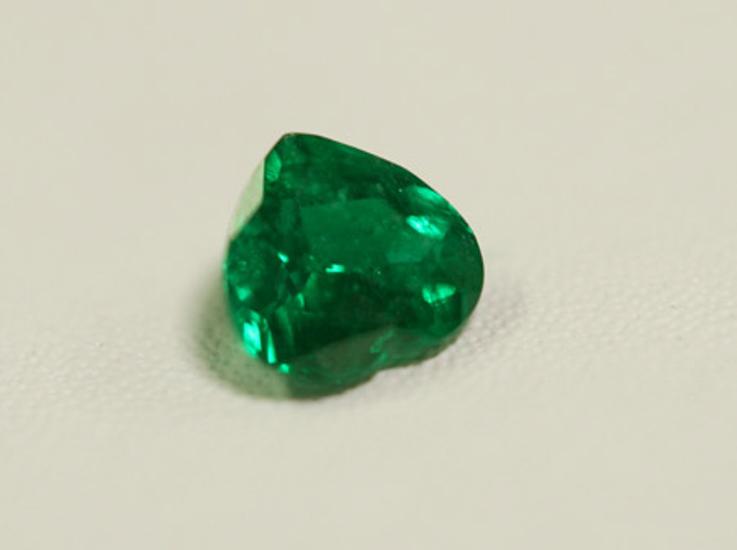 Heart Fine Natural Colombian Emerald Gem
