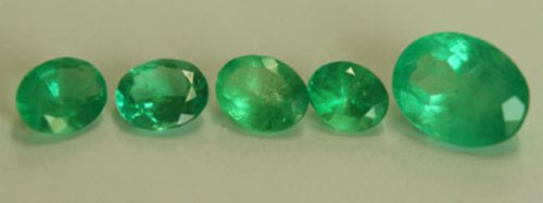 4.12 Ct, Oval Fine Natural Colombian Emerald Lot
