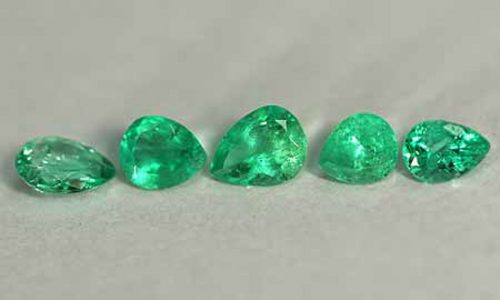 1.85 Ct, Pear Fine Natural Colombian Emerald Lot