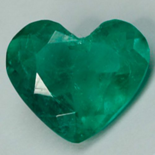 1.76 Ct, Heart Fine Natural Colombian Emerald Gem