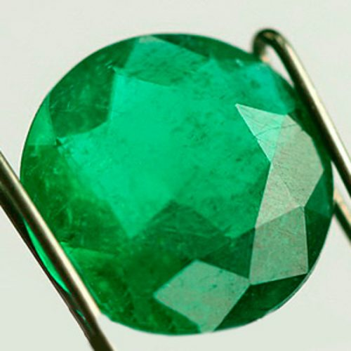1.19 Ct, Round Fine Natural Colombian Emerald Gem