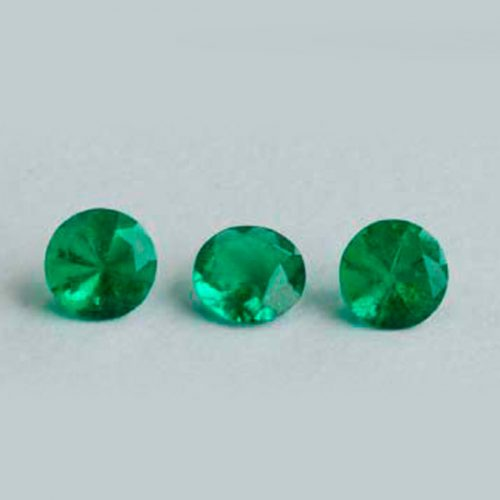 .66 Ct, Set Round Fine Natural Colombian Emerald Lot With A Pair