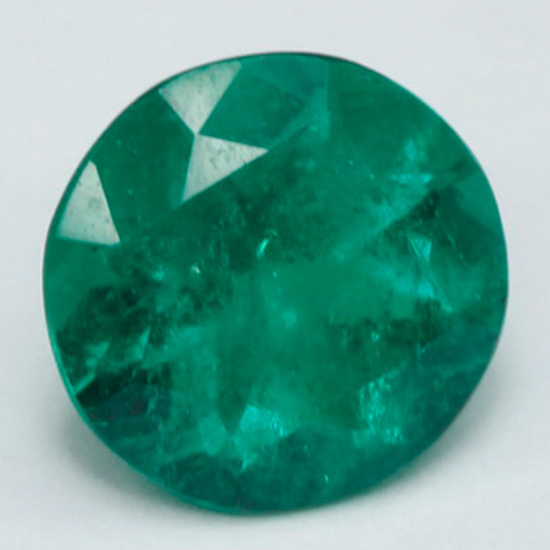 .91 Ct, Round Fine Natural Colombian Emerald Gem