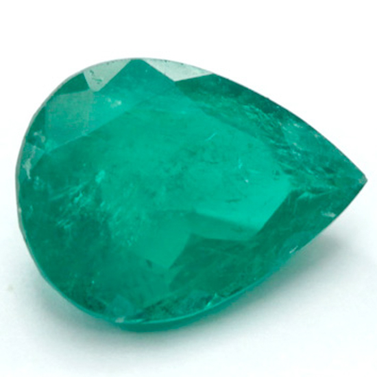 1.76 Ct, Pear Fine Natural Colombian Emerald Gem