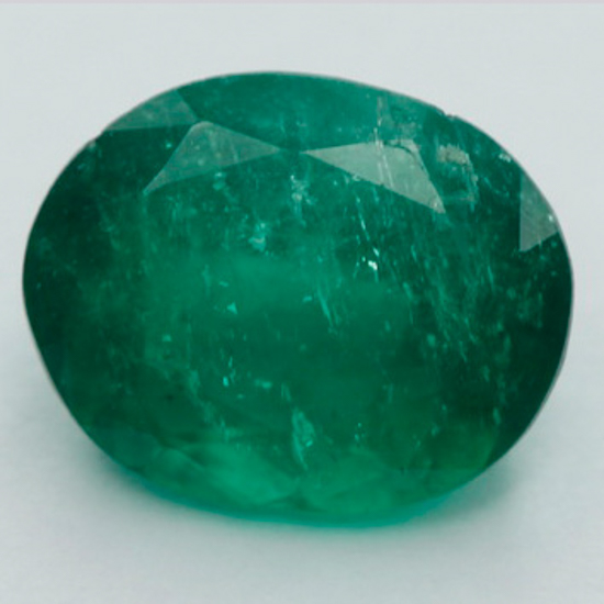 1.09 Ct, Oval Fine Natural Colombian Emerald Gem