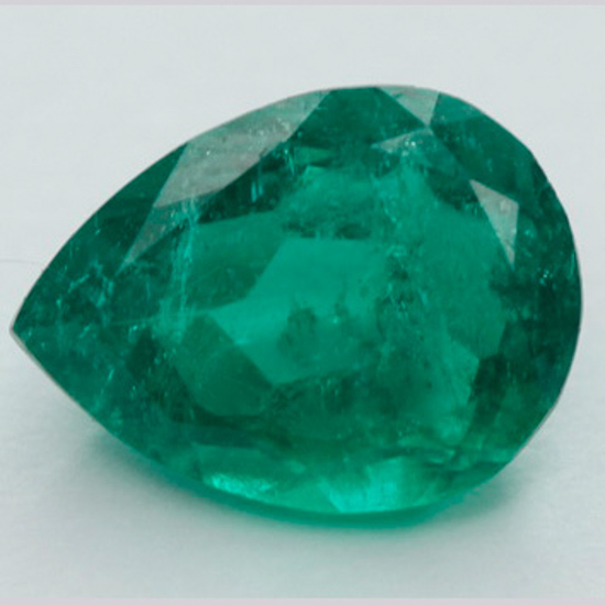 .89 Ct, Pear Fine Natural Colombian Emerald Gem