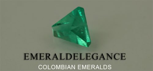 2.12 Ct, Triangle Fine Natural Colombian Emerald Gem