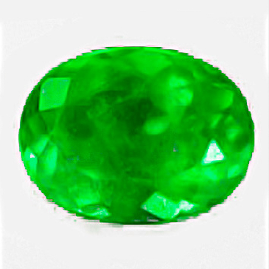 1.42 Ct, Oval Fine Natural Colombian Emerald Gem