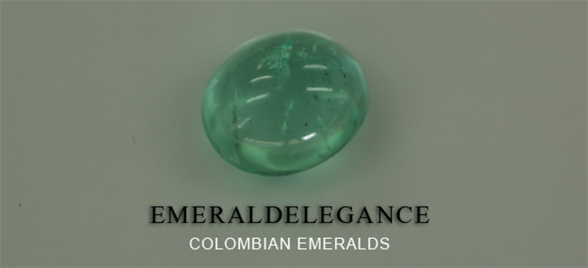 3.1 Ct, Cabochon Round Fine Natural Colombian Emerald Gem