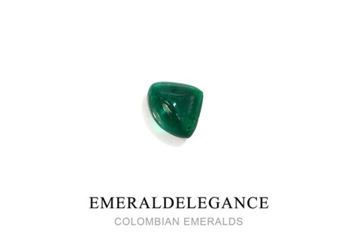 1.32 Ct, Carving Cabochon Fine Natural Colombian Emerald Gem