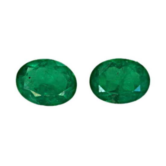.78 Ct, Oval Fine Natural Colombian Emerald Pair