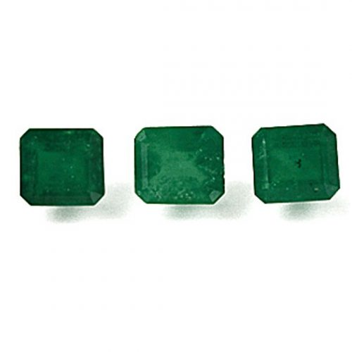 2.18 Ct, Emerald Cut Fine Natural Colombian Emerald Lot With A Pair