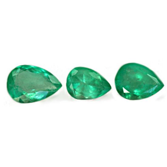 3.2 Ct, Drop Fine Natural Colombian Emerald Lot
