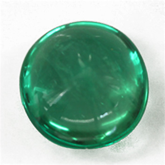3.12 Ct, Cabochon Round Fine Natural Colombian Emerald Gem
