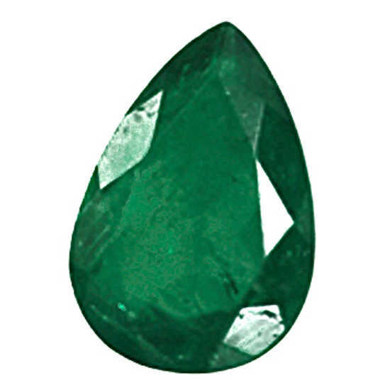1.1 Ct, Drop Fine Natural Colombian Emerald Gem