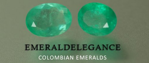 3.64 Ct, Oval Fine Natural Colombian Emerald Pair