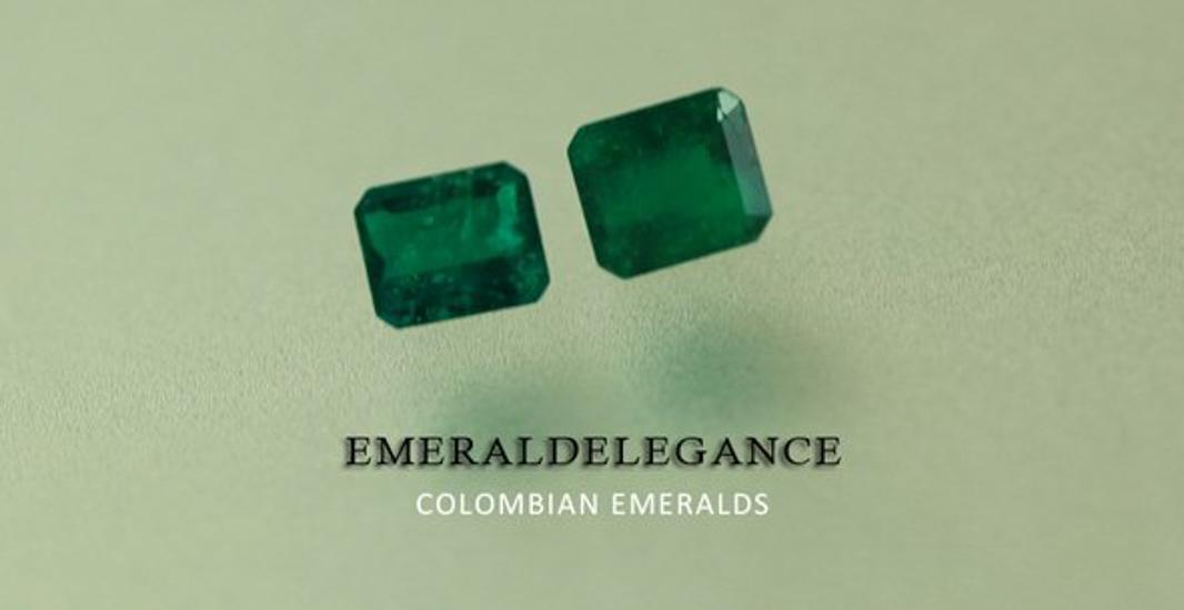 1.24 Ct, Square Fine Natural Colombian Emerald Lot