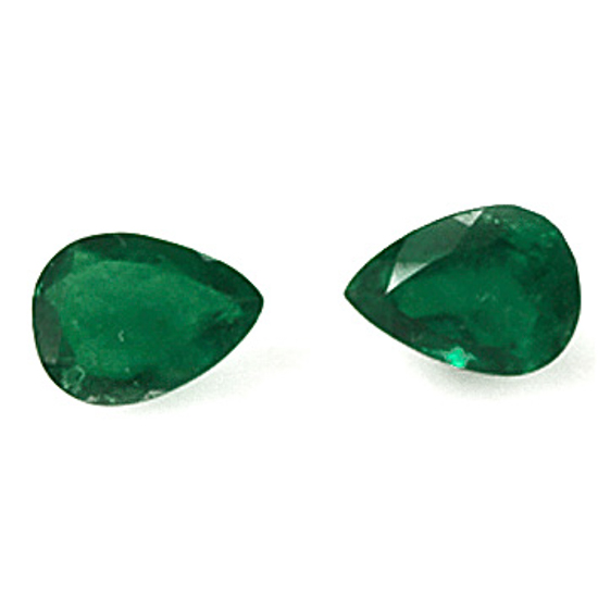 1.23 Ct, Drop Fine Natural Colombian Emerald Pair