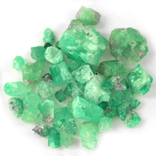252.94 Ct, Rough Fine Natural Colombian Emerald Lot Minerals