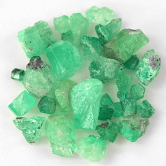 150.38 Ct, Rough Fine Natural Colombian Emerald Lot Minerals