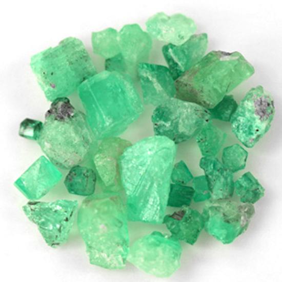 49.35 Ct, Rough Fine Natural Colombian Emerald Lot Minerals