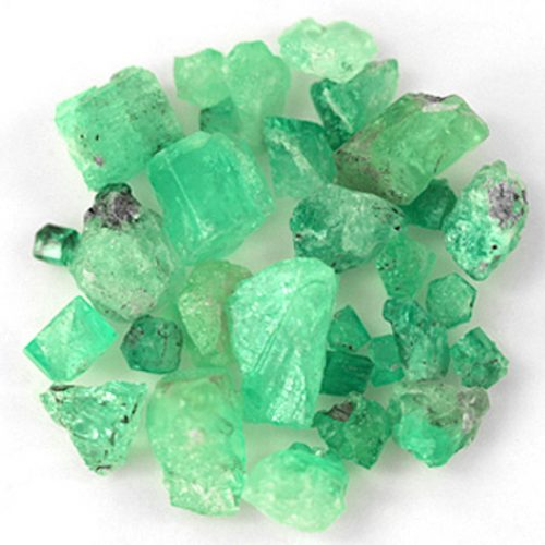 45.01 Ct, Rough Fine Natural Colombian Emerald Lot Minerals