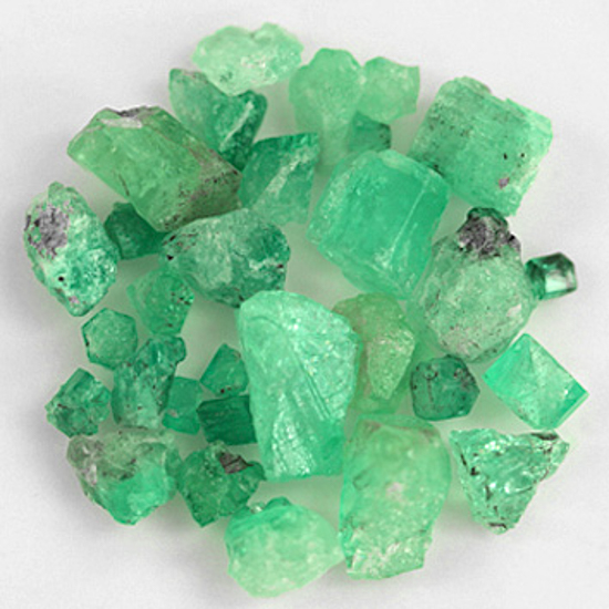 60.97 Ct, Rough Fine Natural Colombian Emerald Lot Minerals