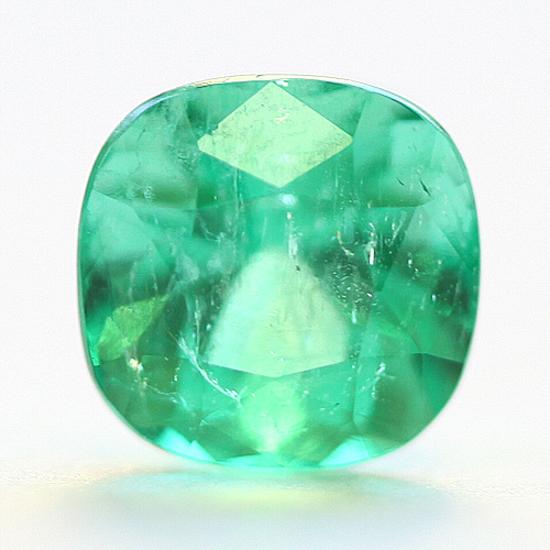 1.28 Ct, Cushion Fine Natural Colombian Emerald Gem