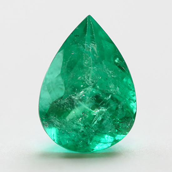4.2 Ct, Pear Fine Natural Colombian Emerald Gem