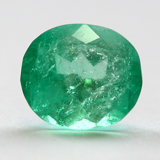 4.11 Ct, Oval Fine Natural Colombian Emerald Gem