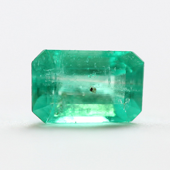 1.19 Ct, Emerald Cut Fine Natural Colombian Emerald Gem