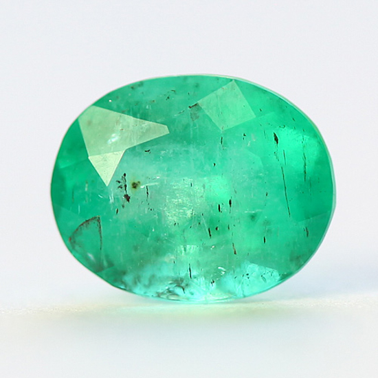 1.26 Ct, Oval Fine Natural Colombian Emerald Gem