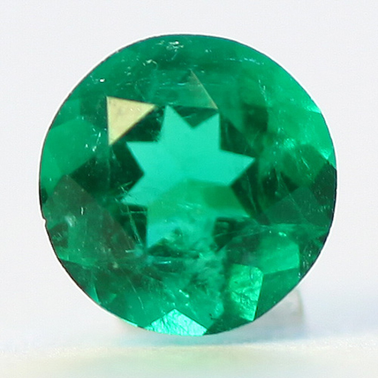 .23 Ct, Round Fine Natural Colombian Emerald Gem