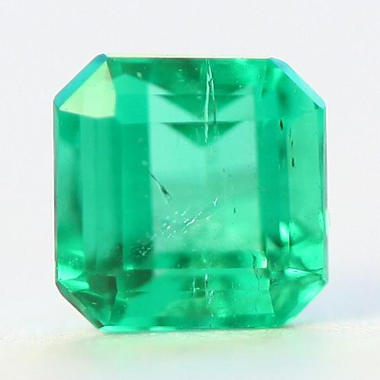 .42 Ct, Square Fine Natural Colombian Emerald Gem