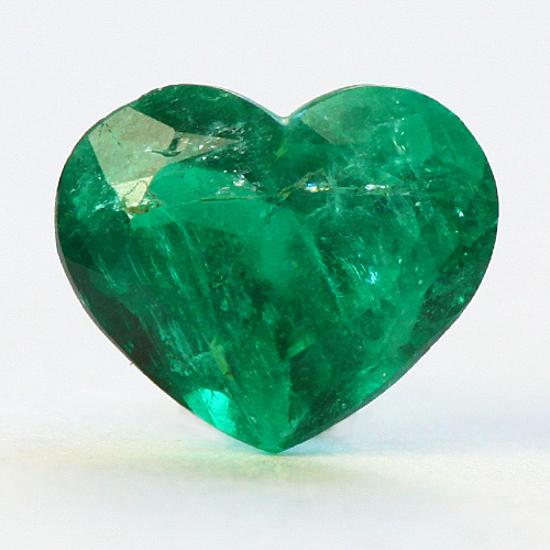 1.24 Ct, Heart Fine Natural Colombian Emerald Gem
