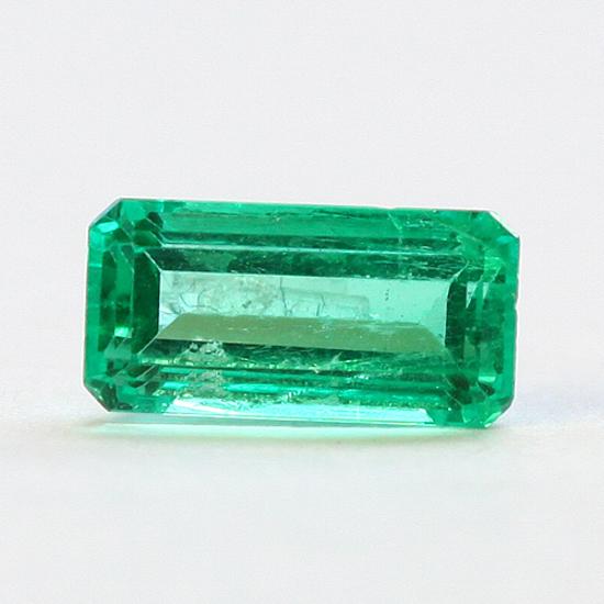 .76 Ct, Baguette Fine Natural Colombian Emerald Gem