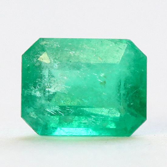 1.02 Ct, Emerald Cut Fine Natural Colombian Emerald Gem