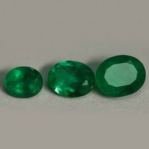 1.74 Ct, Oval Fine Natural Colombian Emerald Lot