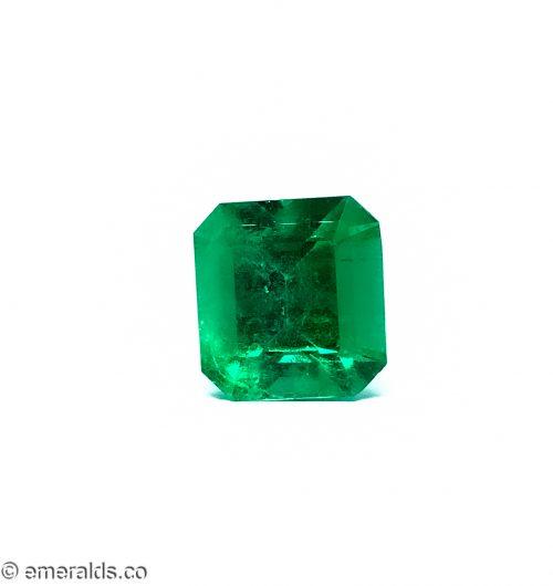 7.98 Fine Colombian Emerald Cut Insignificant Grs