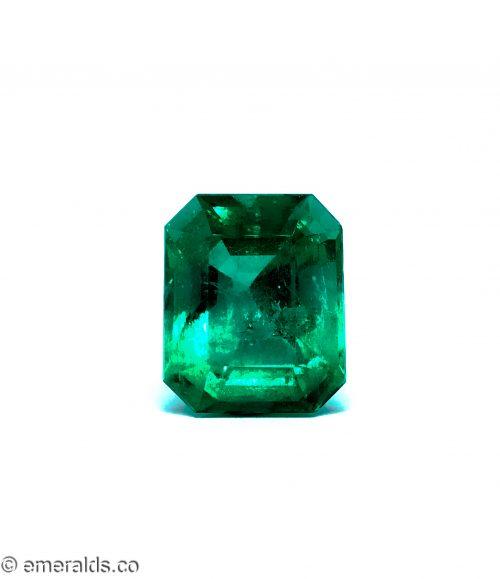 25.30 Fine Colombian Emerald Cut Minor Grs