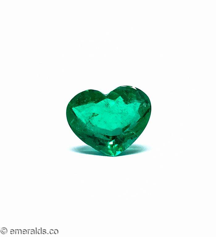 11.10 Fine Colombian Emerald Heart Minor Grs