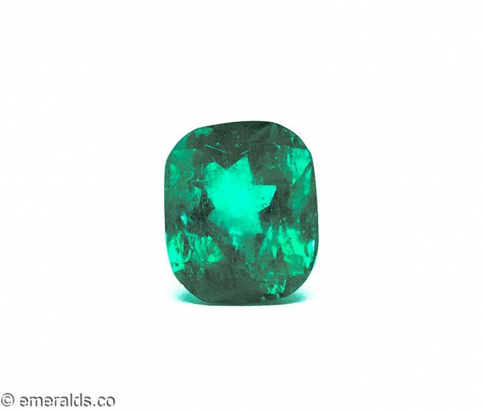 20.55 Fine Colombian Emerald Cushion