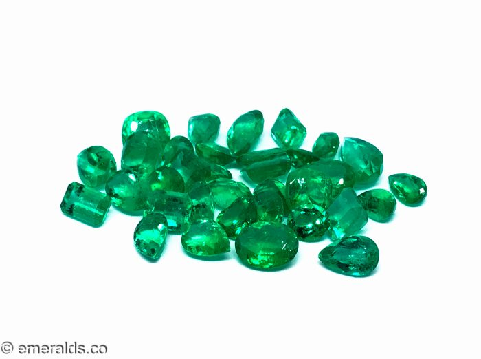 77.92 Fine Colombian Emerald Mixed Lot