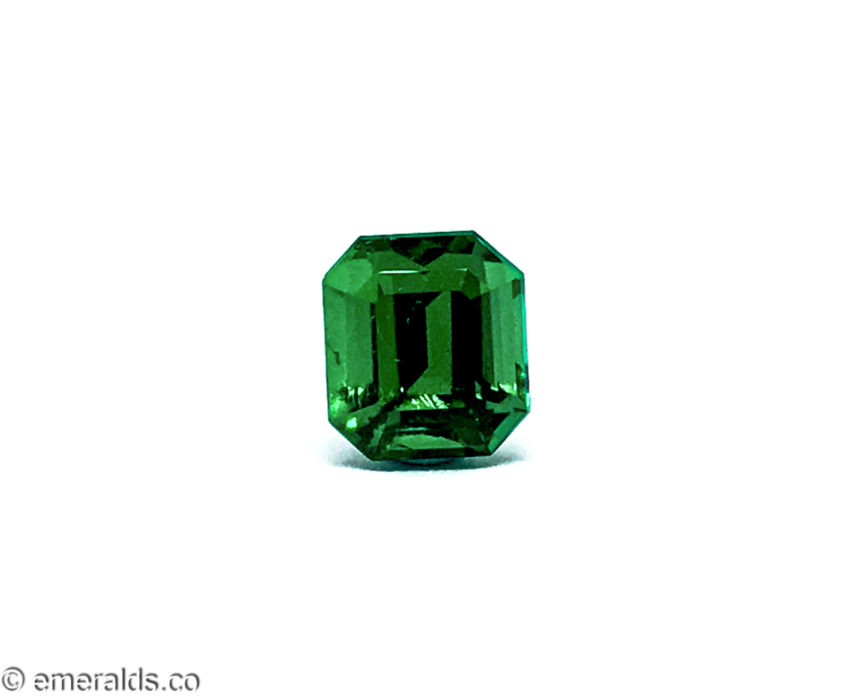 1.82 Fine Colombian Emerald Cut Minor Muzo Green