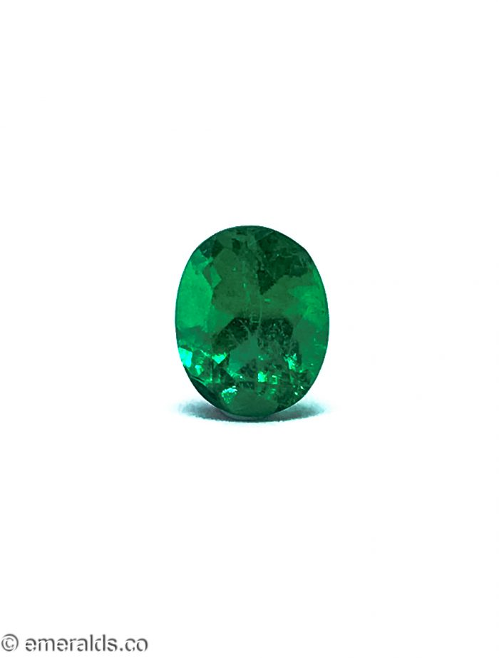 2.31 Fine Colombian Emerald Oval Minor Vivid Green Grs