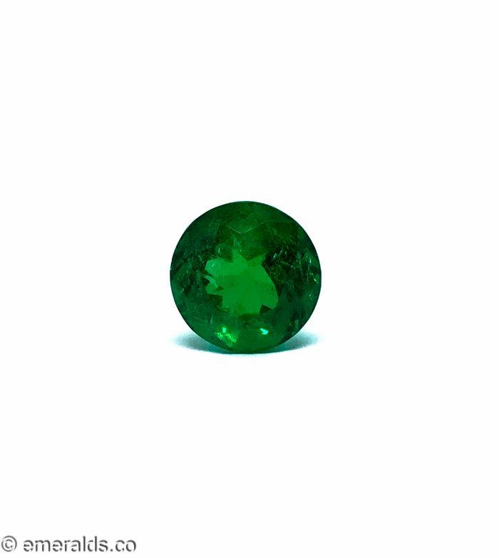 4.96 Fine Colombian Emerald Round Insiginificant Muzo Green
