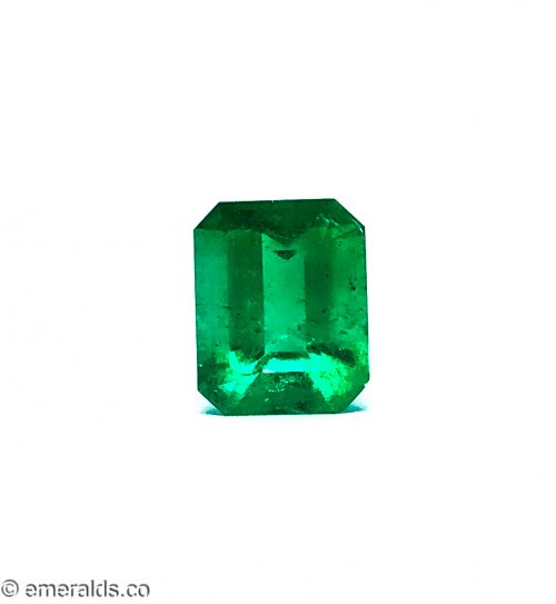 5.97 Fine Colombian Emerald Cut Minor Grs