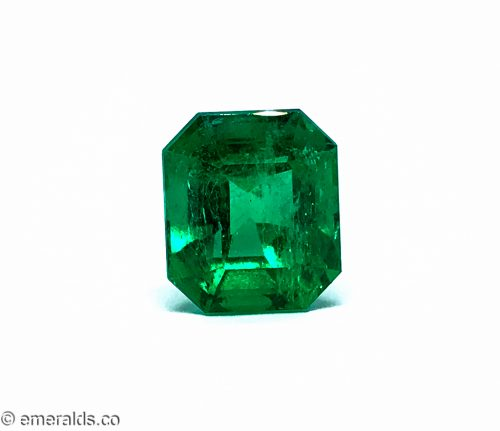 8.91 Fine Colombian Emerald Cut Minor Grs