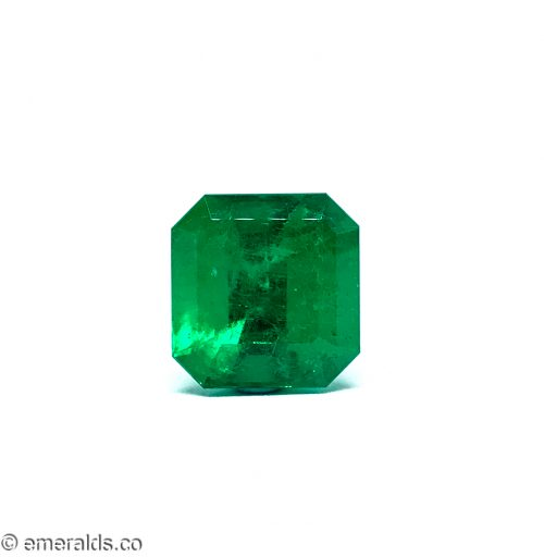 15.22 Fine Colombian Emerald Cut Minor To Moderate Grs