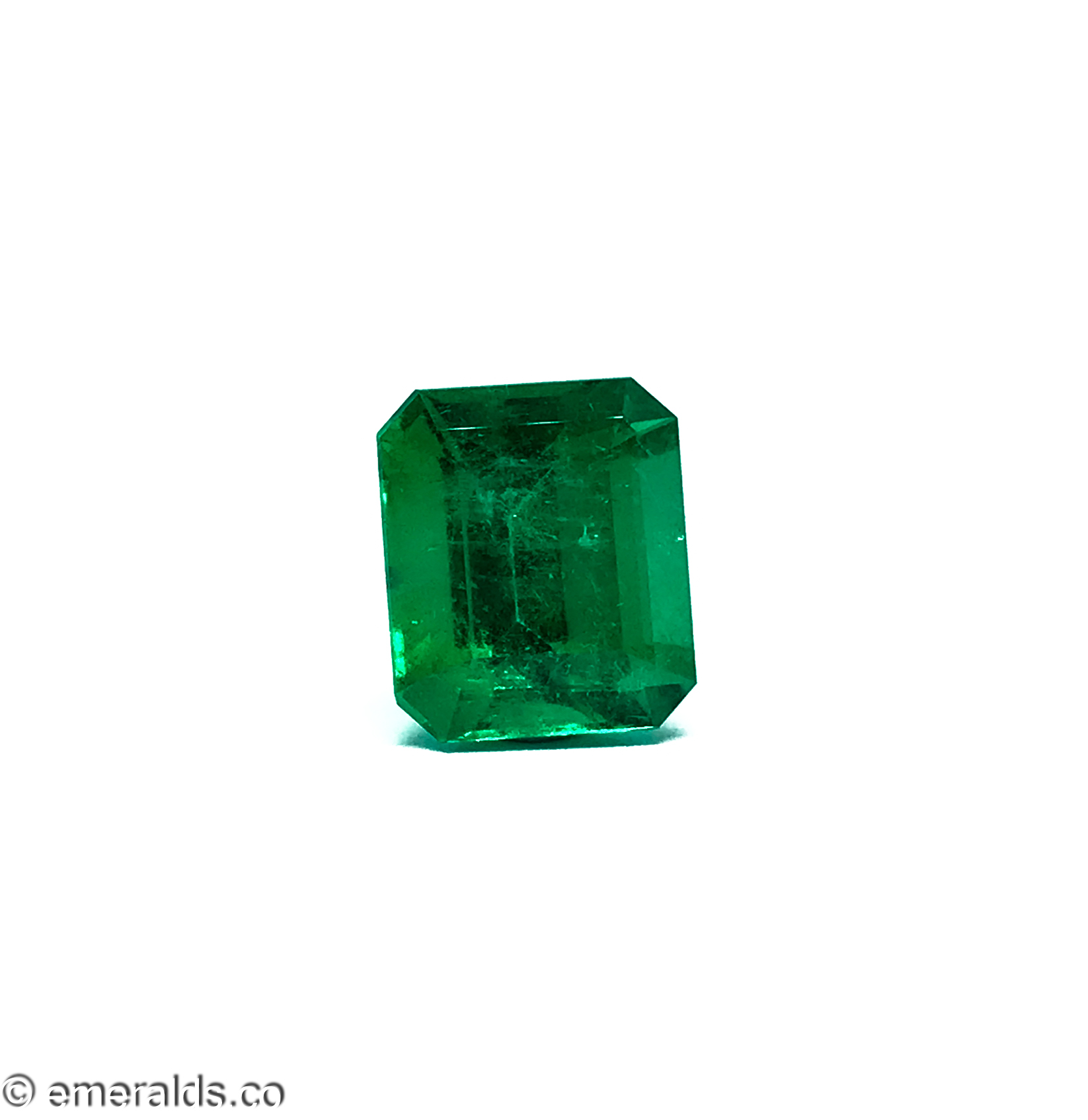 7.53 Fine Colombian Emerald Cut Minor Grs